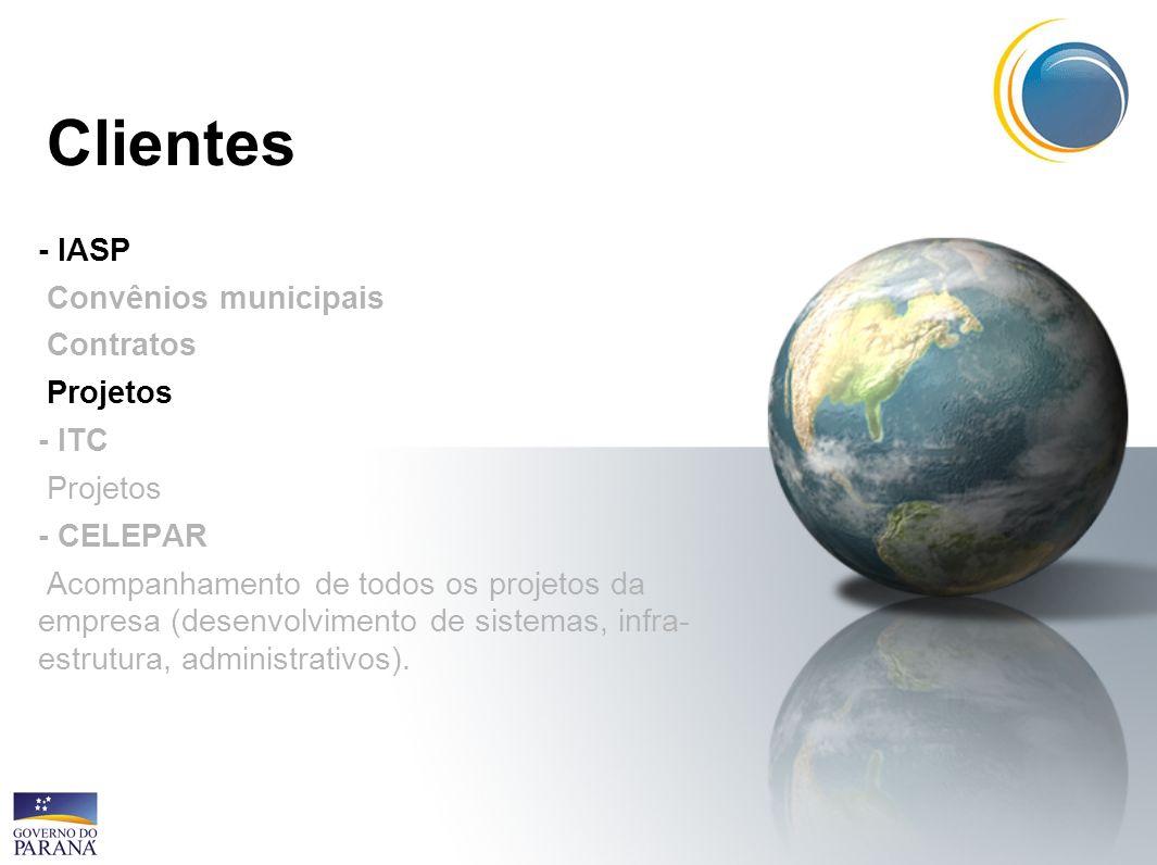 Clientes - IASP Convênios municipais Contratos Projetos - ITC