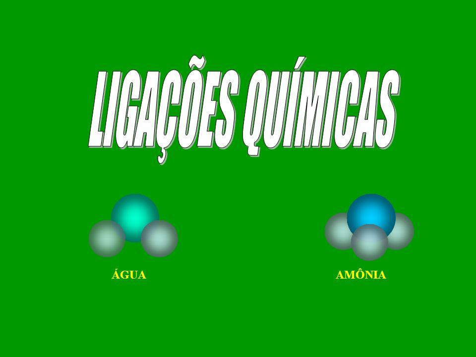 LIGAÇÕES QUÍMICAS ÁGUA AMÔNIA
