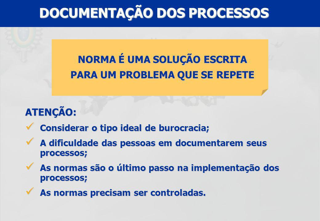 DOCUMENTAÇÃO DOS PROCESSOS