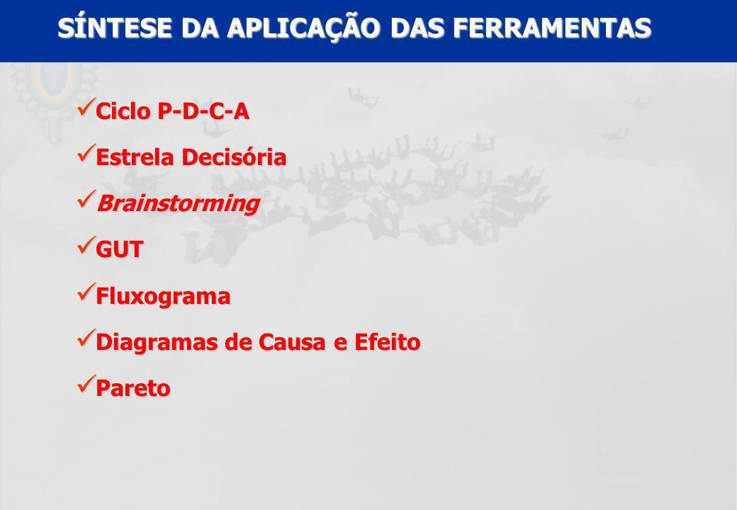 SÍNTESE DA APLICAÇÃO DAS FERRAMENTAS