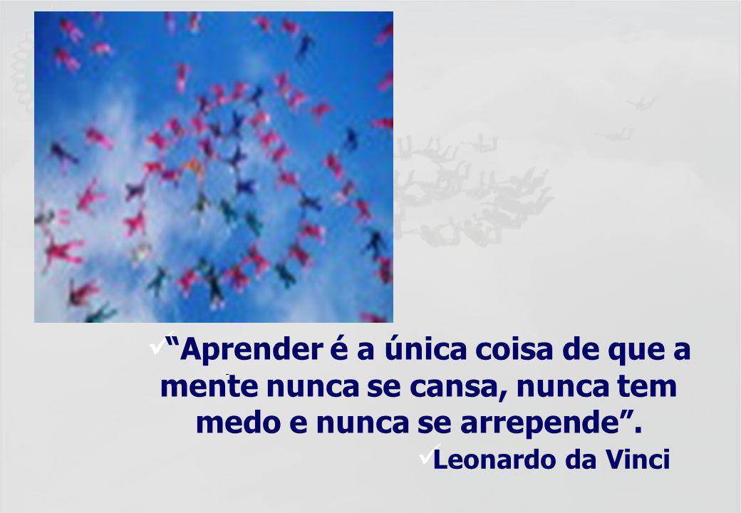 – Aprender é a única coisa de que a mente nunca se cansa, nunca tem medo e nunca se arrepende .