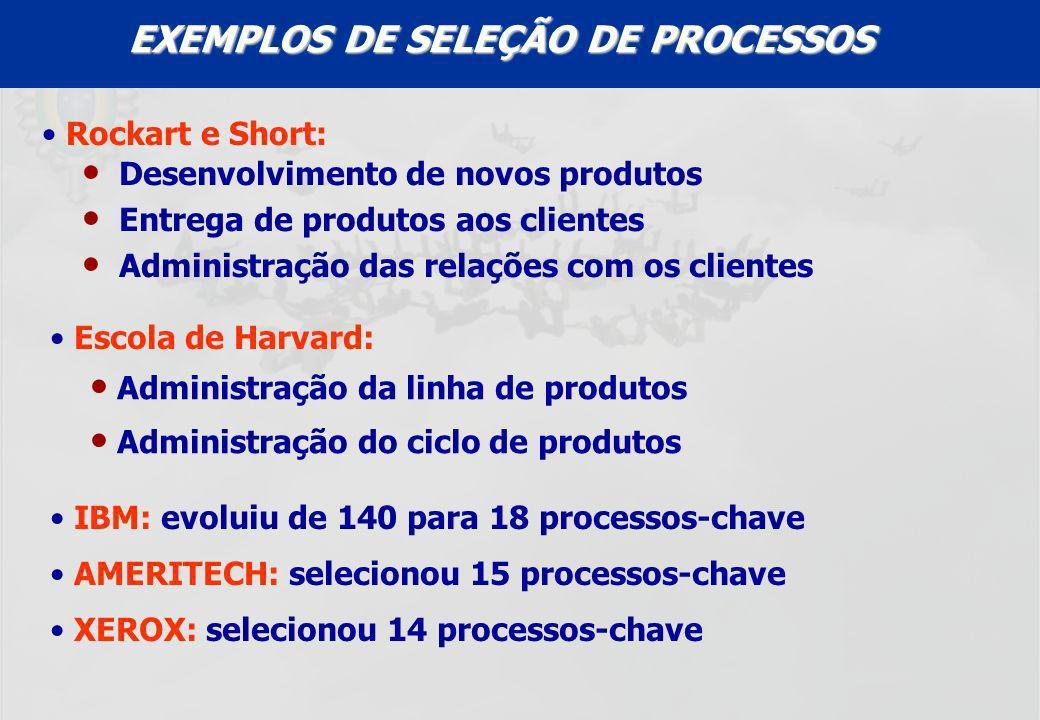 EXEMPLOS DE SELEÇÃO DE PROCESSOS