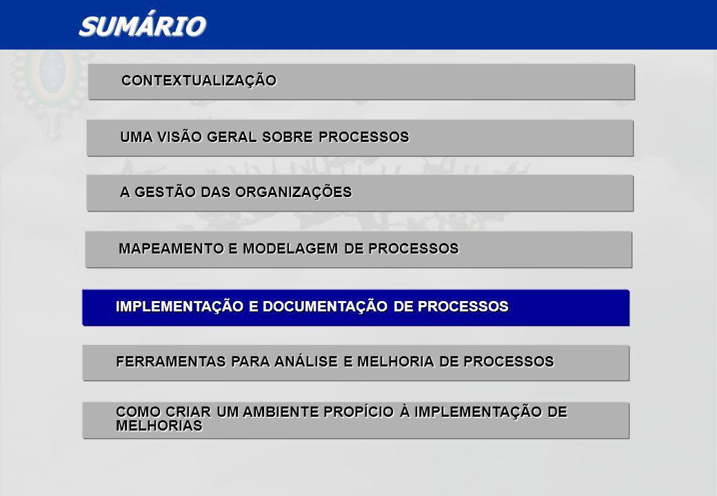 SUMÁRIO CONTEXTUALIZAÇÃO UMA VISÃO GERAL SOBRE PROCESSOS