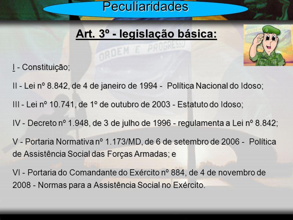 Art. 3º - legislação básica: