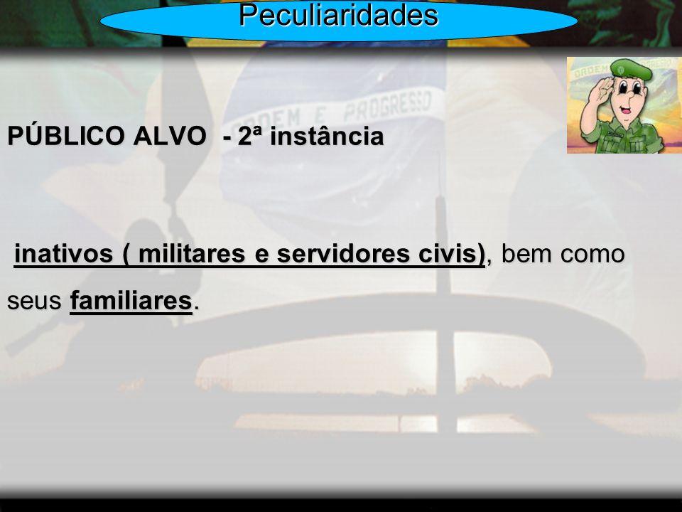 Peculiaridades PÚBLICO ALVO - 2ª instância