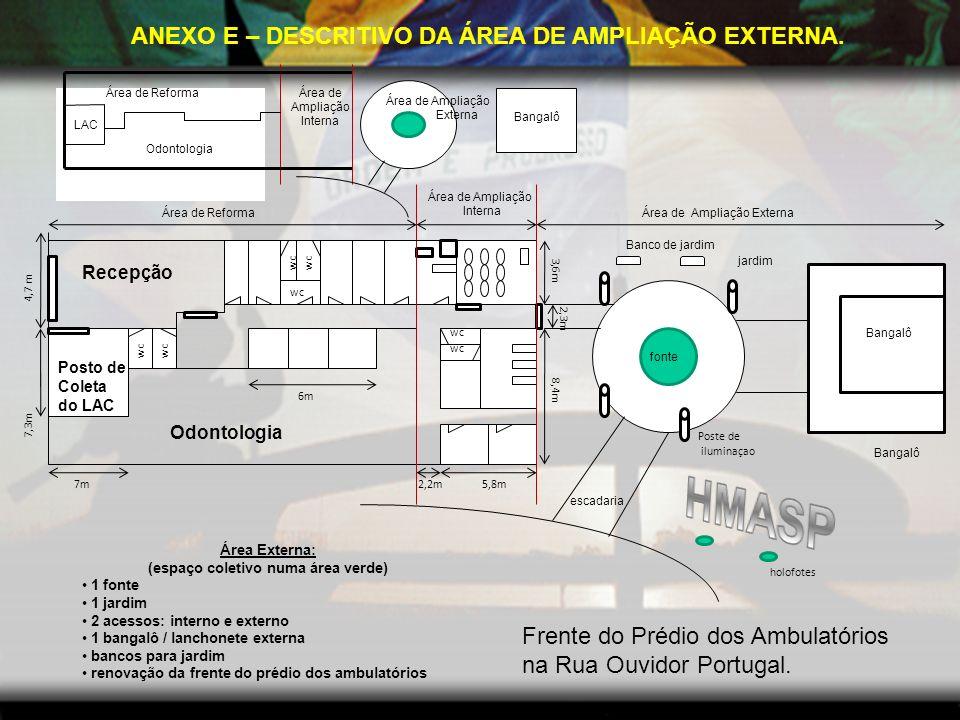 HMASP ANEXO E – DESCRITIVO DA ÁREA DE AMPLIAÇÃO EXTERNA.