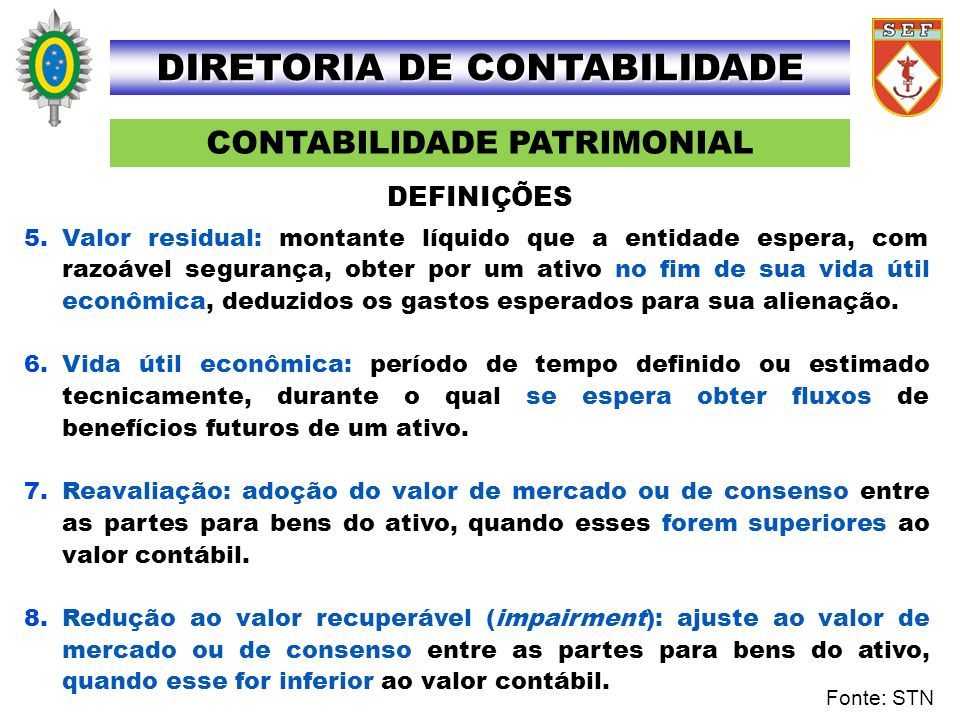 DIRETORIA DE CONTABILIDADE CONTABILIDADE PATRIMONIAL
