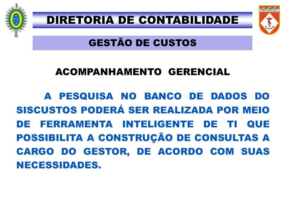 DIRETORIA DE CONTABILIDADE ACOMPANHAMENTO GERENCIAL