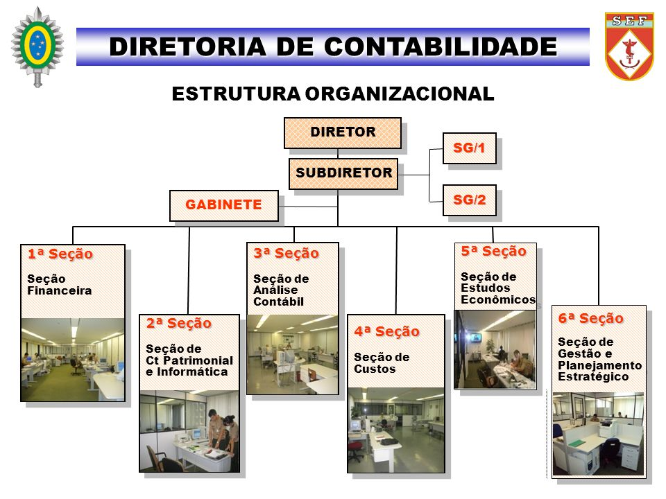 DIRETORIA DE CONTABILIDADE ESTRUTURA ORGANIZACIONAL