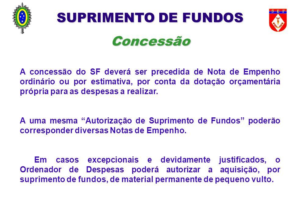 SUPRIMENTO DE FUNDOS Concessão