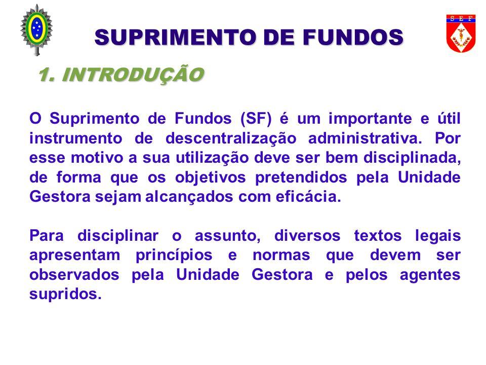 SUPRIMENTO DE FUNDOS 1. INTRODUÇÃO