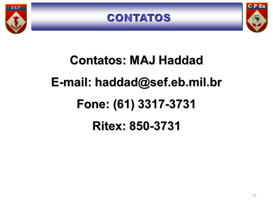 E-mail: haddad@sef.eb.mil.br