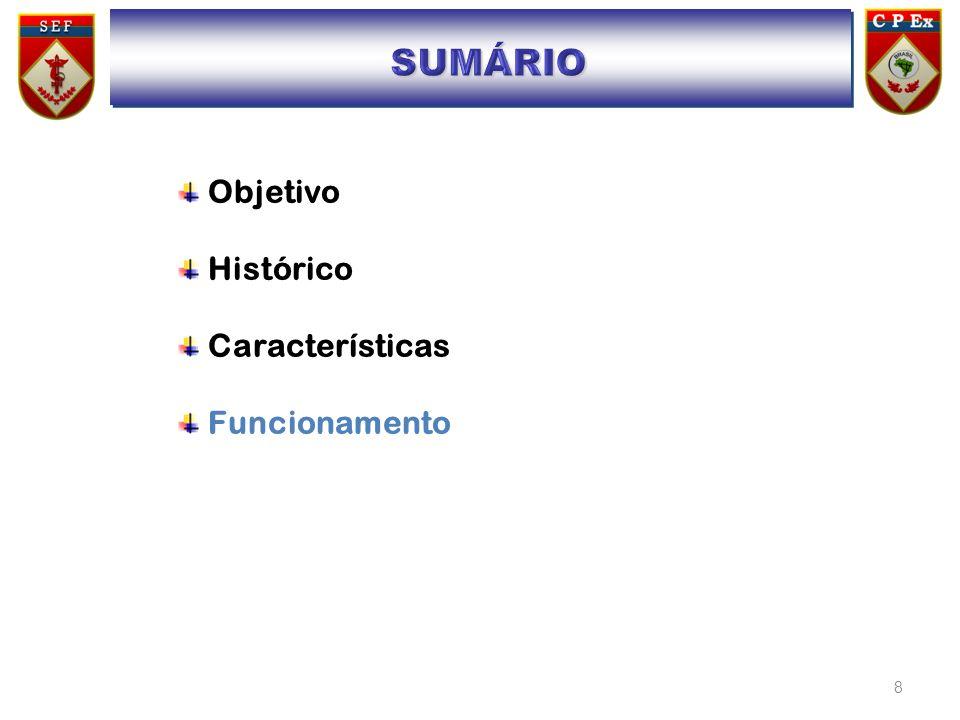 SUMÁRIO Objetivo Histórico Características Funcionamento SUMÁRIO
