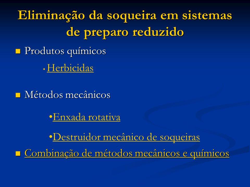 Eliminação da soqueira em sistemas de preparo reduzido