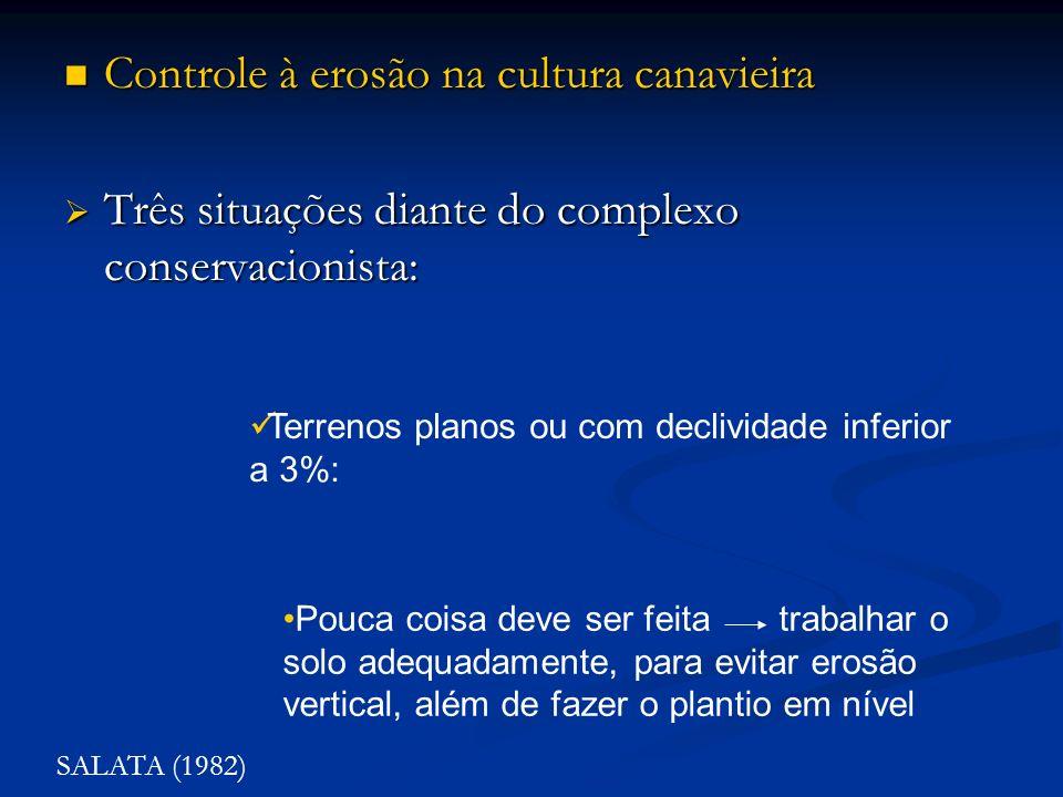 Controle à erosão na cultura canavieira