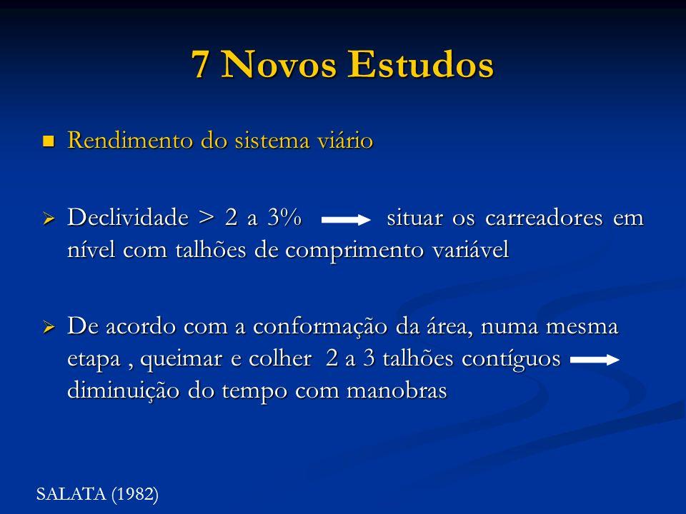 7 Novos Estudos Rendimento do sistema viário