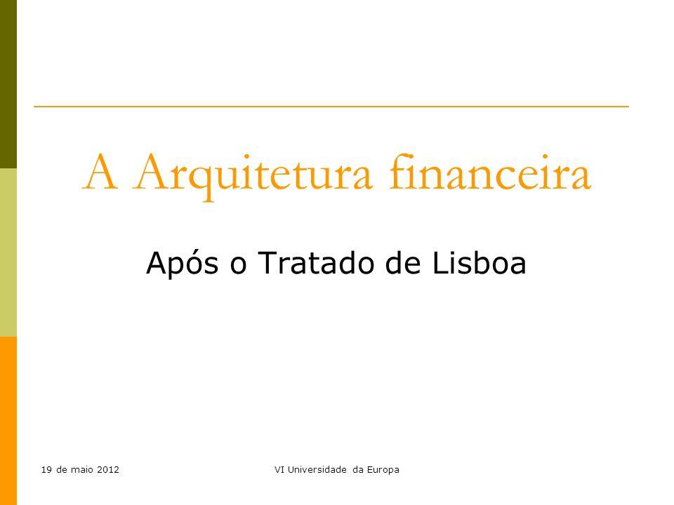 A Arquitetura financeira