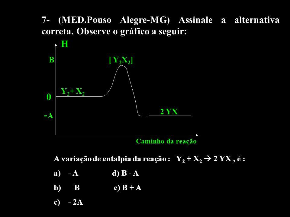 7- (MED. Pouso Alegre-MG) Assinale a alternativa correta