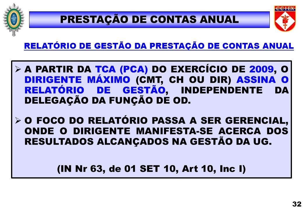 PRESTAÇÃO DE CONTAS ANUAL