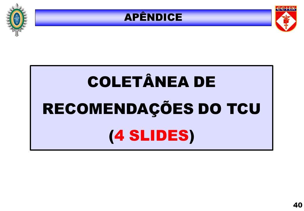 COLETÂNEA DE RECOMENDAÇÕES DO TCU