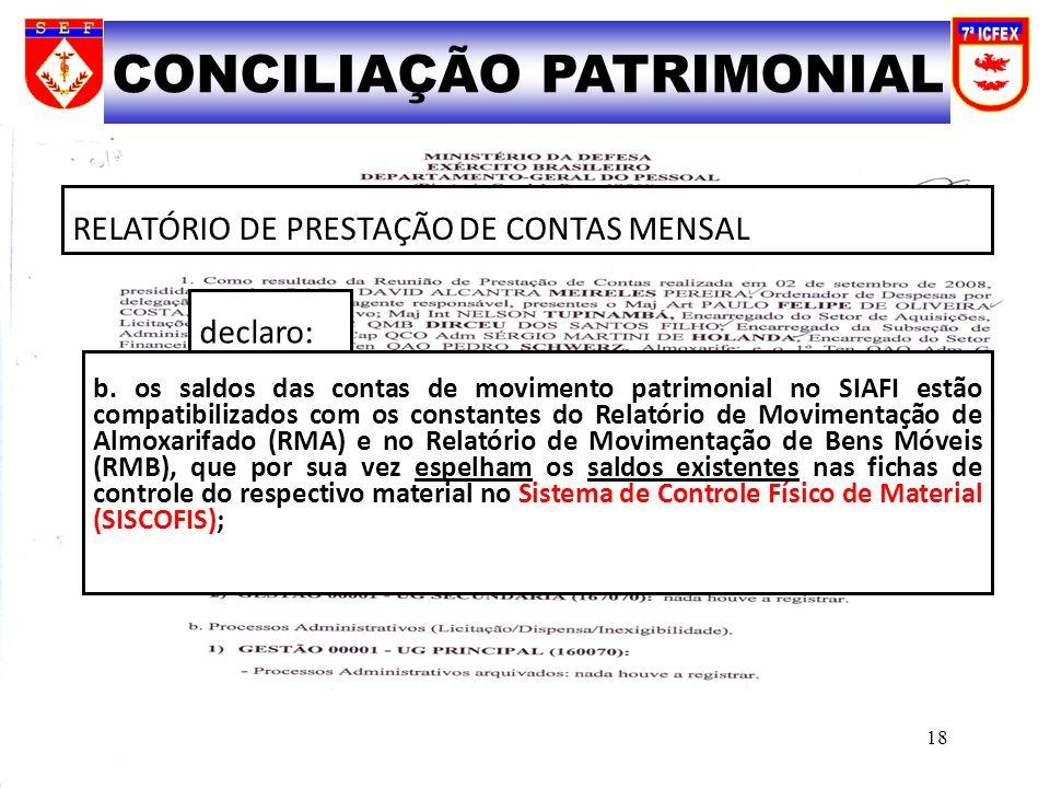 CONCILIAÇÃO PATRIMONIAL
