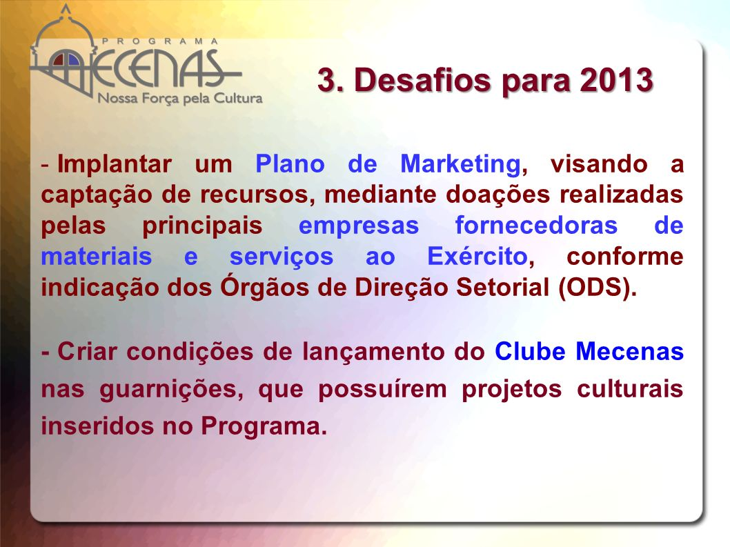 3. Desafios para 2013