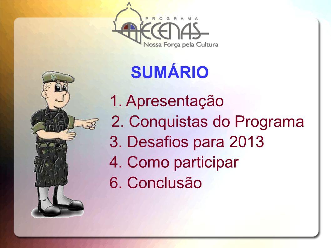 SUMÁRIO 1. Apresentação 2. Conquistas do Programa