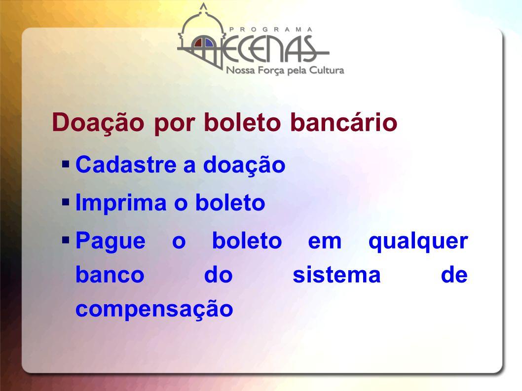 Doação por boleto bancário