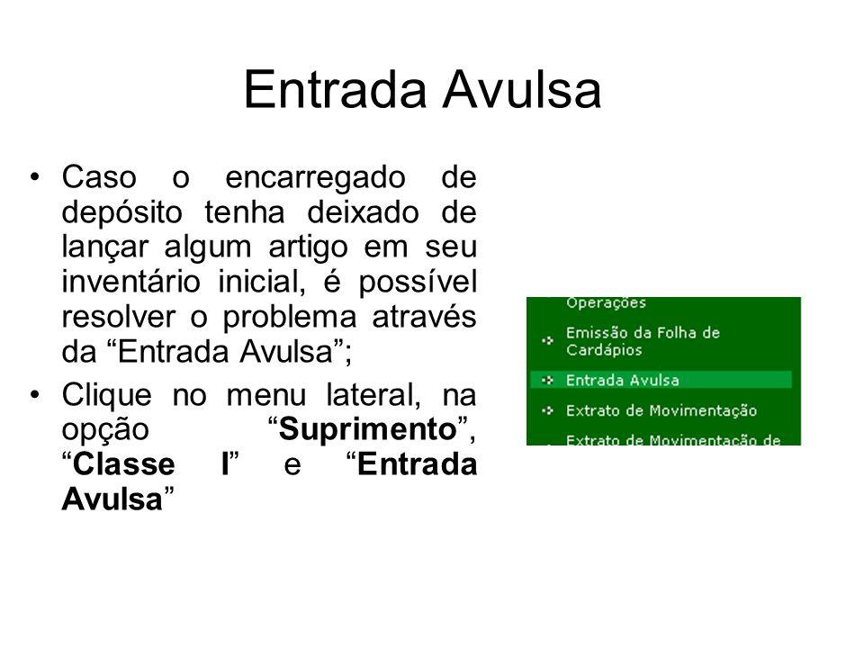 Entrada Avulsa
