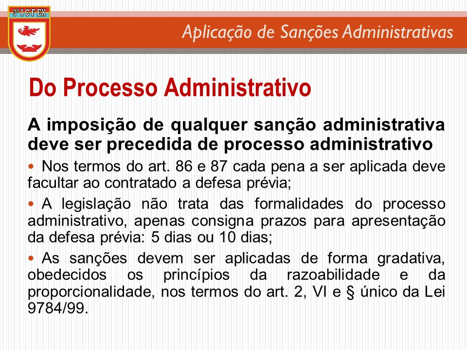 Do Processo Administrativo