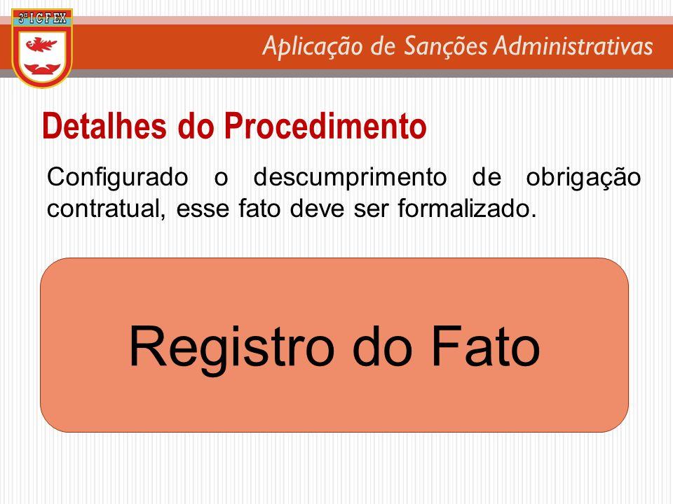 Registro do Fato Detalhes do Procedimento