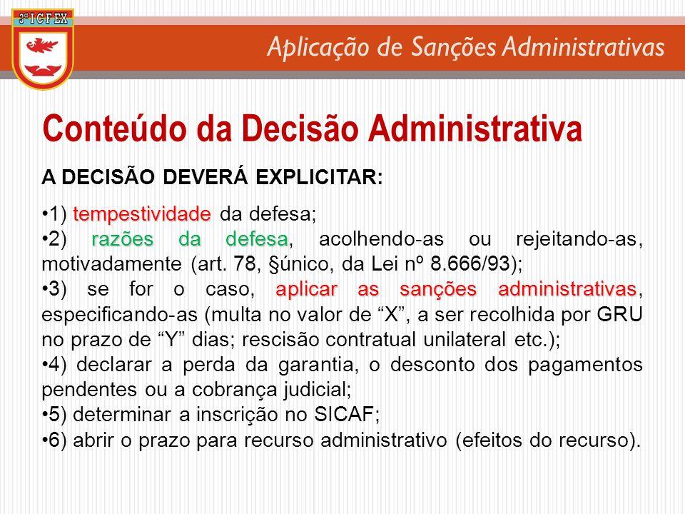 Conteúdo da Decisão Administrativa