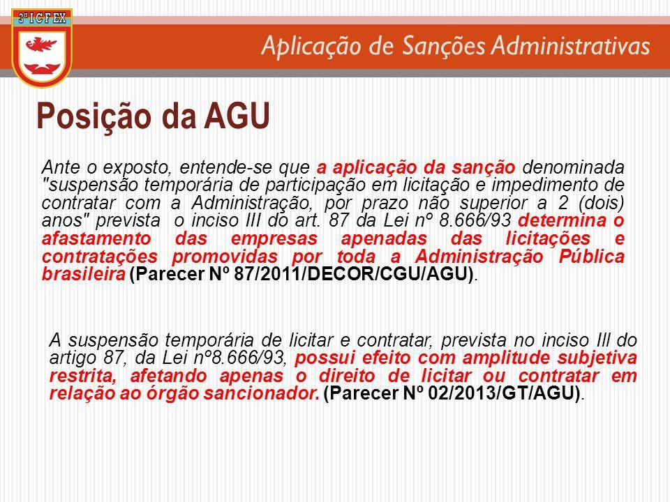 Posição da AGU