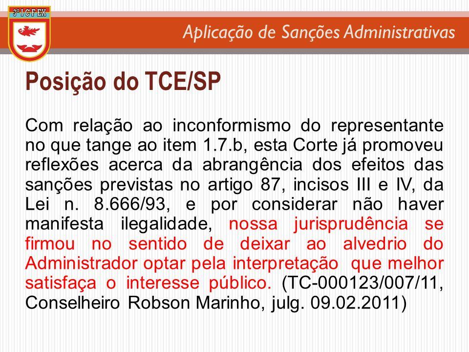 Posição do TCE/SP