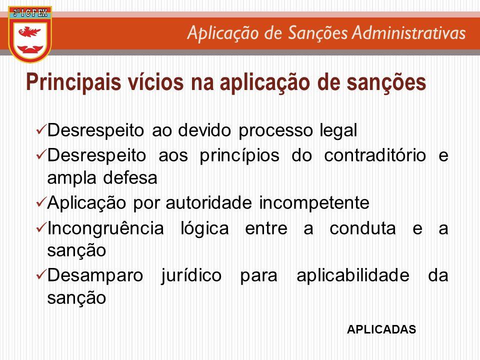 Principais vícios na aplicação de sanções