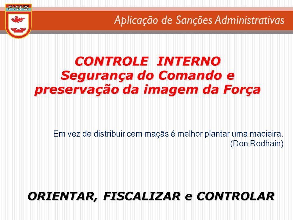 CONTROLE INTERNO Segurança do Comando e preservação da imagem da Força