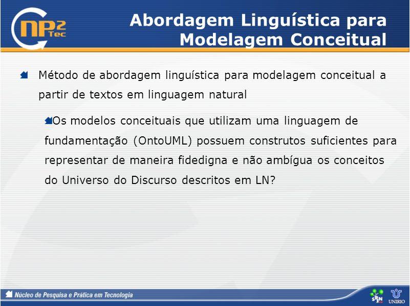 Abordagem Linguística para Modelagem Conceitual