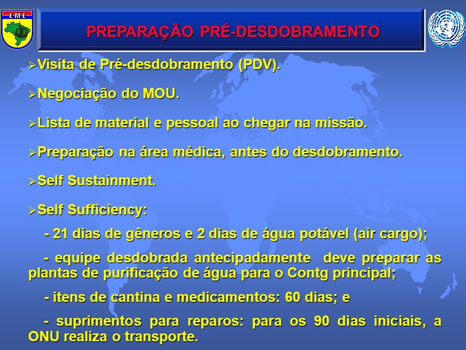 PREPARAÇÃO PRÉ-DESDOBRAMENTO