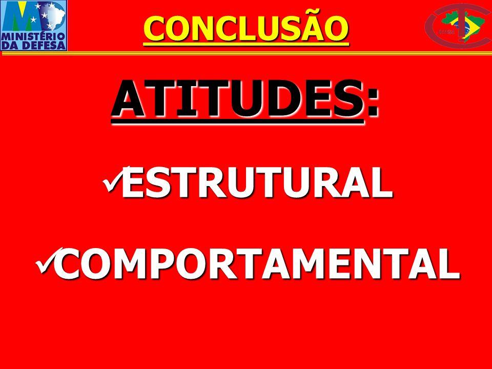 CONCLUSÃO ATITUDES: ESTRUTURAL COMPORTAMENTAL