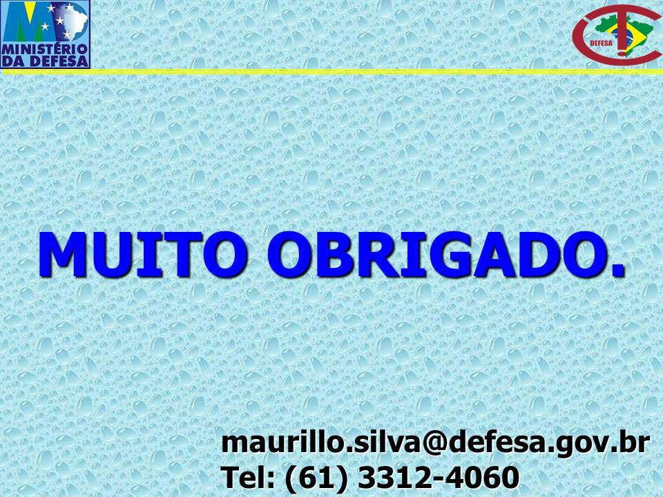 MUITO OBRIGADO. maurillo.silva@defesa.gov.br Tel: (61) 3312-4060
