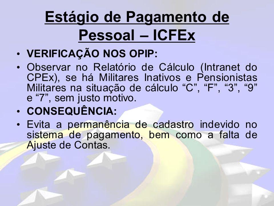 Estágio de Pagamento de Pessoal – ICFEx