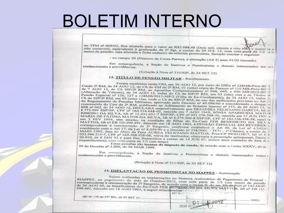 BOLETIM INTERNO