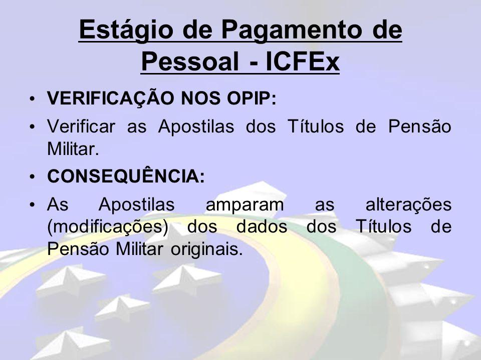 Estágio de Pagamento de Pessoal - ICFEx