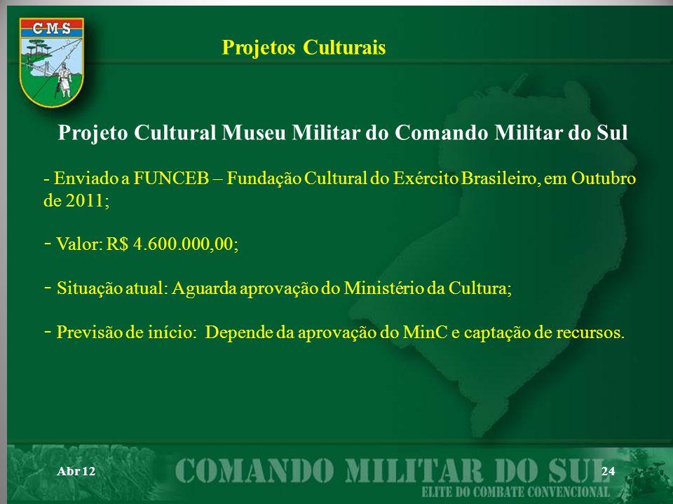 Projeto Cultural Museu Militar do Comando Militar do Sul