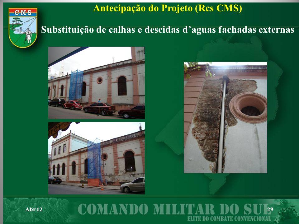 Antecipação do Projeto (Rcs CMS)