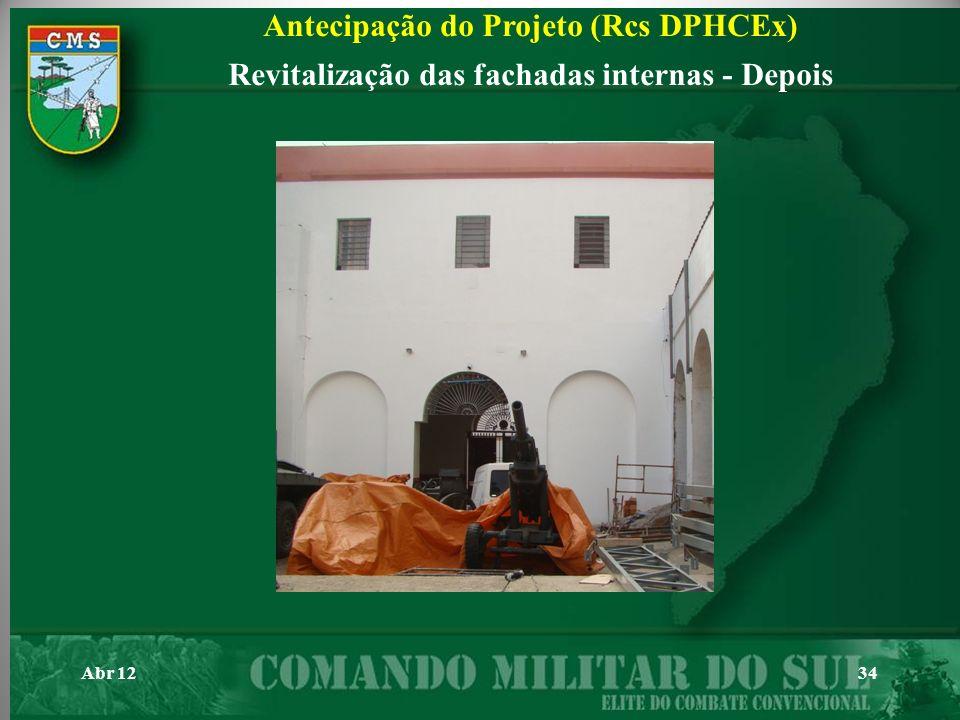Antecipação do Projeto (Rcs DPHCEx)