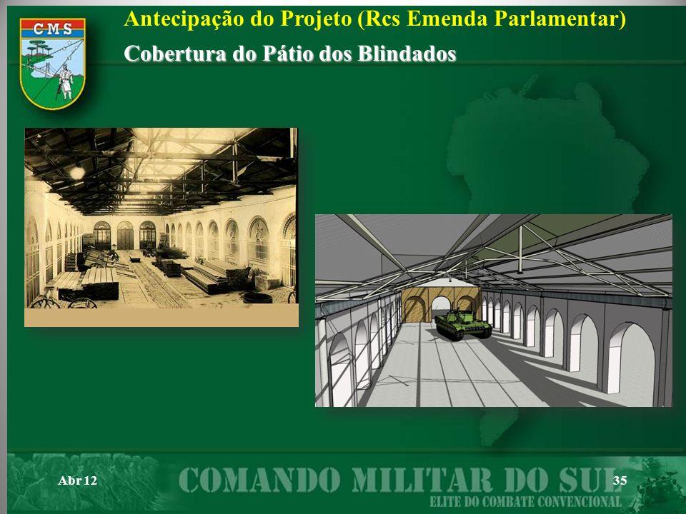 Antecipação do Projeto (Rcs Emenda Parlamentar)