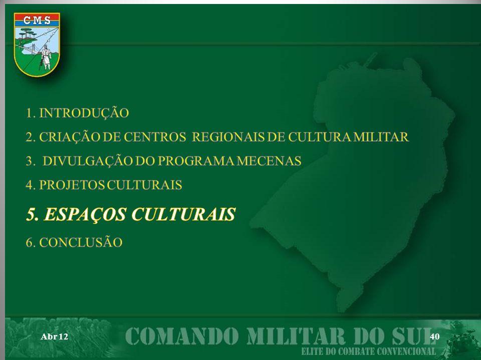 5. ESPAÇOS CULTURAIS 1. INTRODUÇÃO