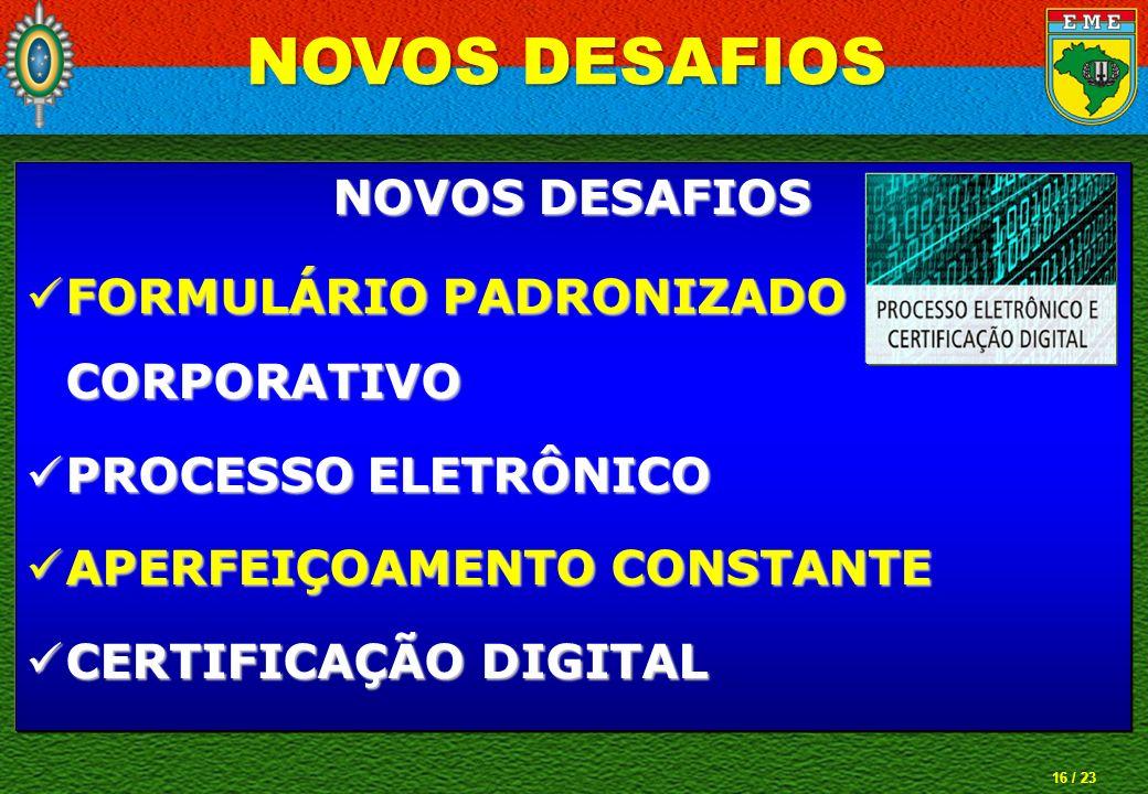 NOVOS DESAFIOS NOVOS DESAFIOS FORMULÁRIO PADRONIZADO CORPORATIVO