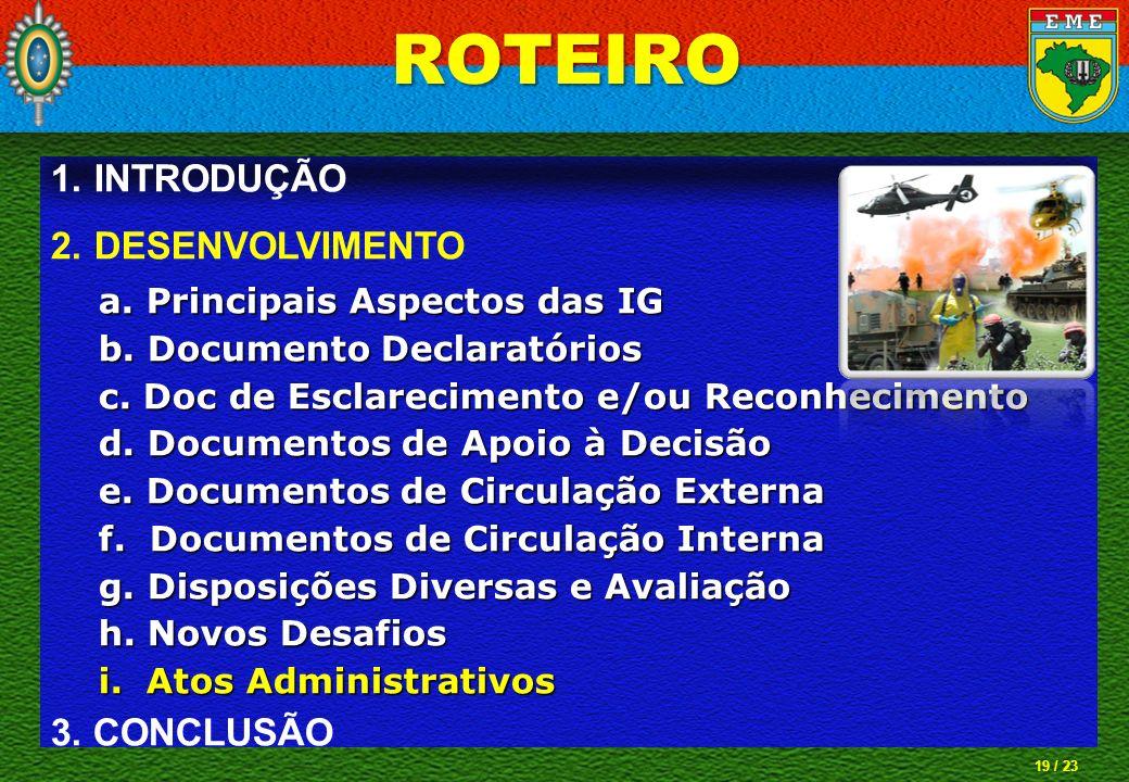 ROTEIRO INTRODUÇÃO DESENVOLVIMENTO 3. CONCLUSÃO